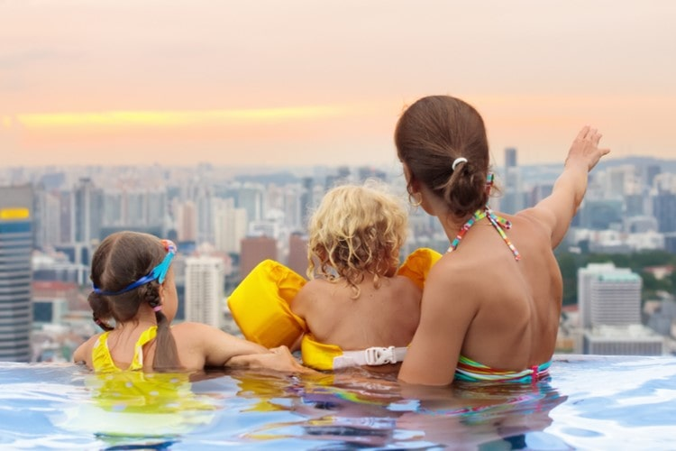 solutions for hospitality family in pool