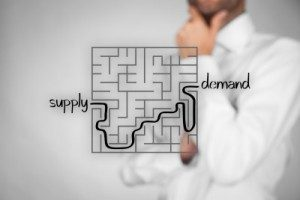 maze depicting supply and demand