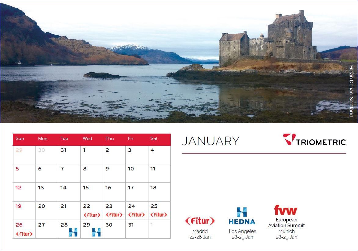 Triometric Calendar January