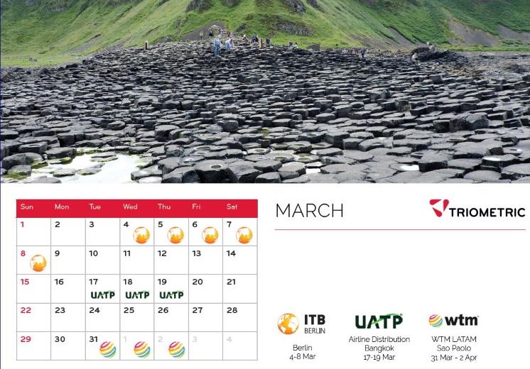 Triometric Event Calendar - March