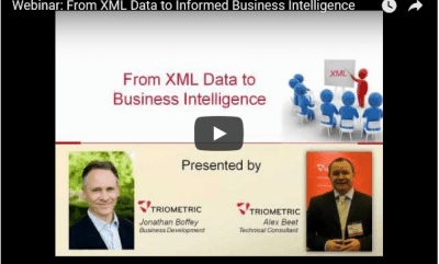webinar XML data informed business decisions